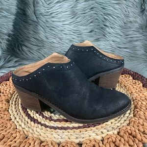 Lucky Brand Mabri Western Slip On Mules Booties